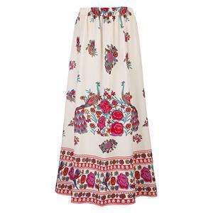 Ankle Length Long Maxi  Skirt, Long Beach Maxi Skirt, Floral Print Party Casual Maxi  Skirt ,  Maxi  Skirt  for Women Casual, Summer Beach Maxi  Skirt, #N14106