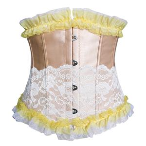 Fashion Gold Underbust Corset, Cheap Women