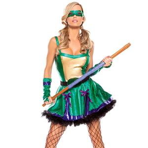 Ninja Turtle Costume, Fairy Tale Costume, Sexy Halloween Costume, Cosplay Costume, Animal Costume, #N10444