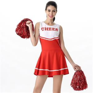 Sideline Spirit Costume, Sexy Cheerleader Costume, High School Cheerleader Costume, #N12602