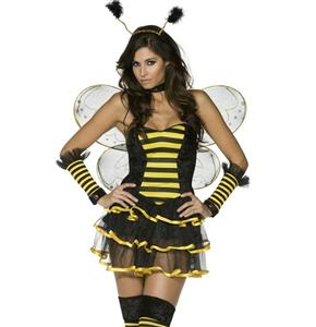 Sexy Honey Bee Costume, Sexy Bumble Bee Costume for Women, Bee Costume Dress, #N5844
