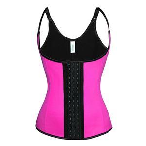 Steel Bone Vest Corset, Latex Underbust Corset, Hot-Pink Underbust Corset, Women