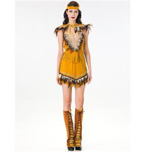 Sexy Indian Girl Adult Tribal Maiden Costume Halloween Costume N18879
