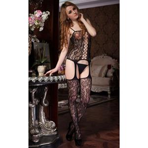 Sexy Body Stocking, Fishnet Body Stocking, Cheap Black Hollow Out Body Stocking, #BS9902