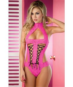 Sexy Lace Up Teddy N7195