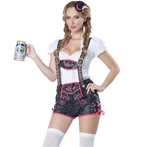 German Beer Beauty Costume, Oktoberfest Costume for girl, Beer girl Costume,Cow girl costume, #N11388