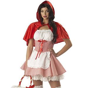 Little Red Costume, Sexy Red Riding Hood Costume, Little Red Riding Hood Costume, #N11848