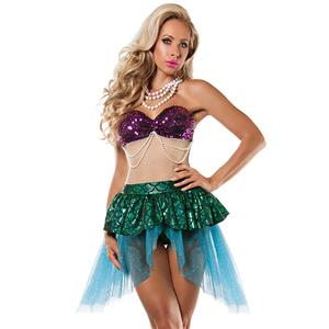 Under the Sea Costume, Beautiful Mermaid Costume, Sexy Mermaid Costume, Halloween Costume, #N11783