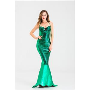 Under the Sea Costume, Beautiful Mermaid Costume, Sexy Mermaid Costume, Womens Halloween Costume, Adult Women Halloween Mermaid Costume, Evil Mermaid Ocean Queen Costume,Mermaid Cosplay Costume,#N19919