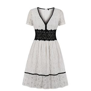 Fashion Casual Swing Dress, Sexy Party Dress, Dresses for Women 1960, Vintage Dresses 1950