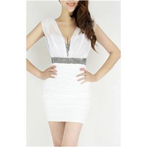 Mini Dress, Little White Dress, Sexy White Mini Dress, #N6817