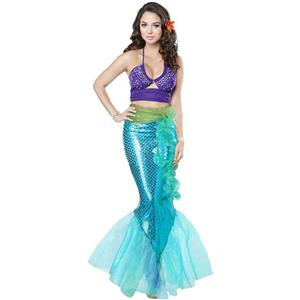 Under the Sea Costume, Beautiful Mermaid Costume, Sexy Mermaid Costume, Halloween Costume, #N14735