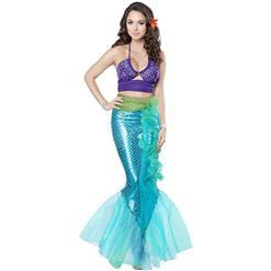 Under the Sea Costume, Beautiful Mermaid Costume, Sexy Mermaid Costume, Halloween Costume, #N14735