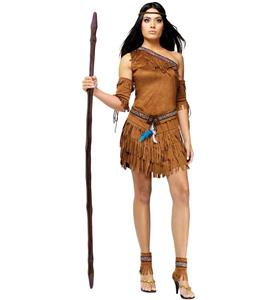 Brown Indian Costume, Sexy Halloween Costume, Cheap Women