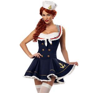 Sexy Nautical Costume, Nautical Sailor Girl Costume, Adult Sailor Girl Costume, Sailor Halloween Costume, Nautical Doll, #N4950