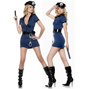 Sexy lingerie, Sexy Officer Blue Costume, Sexy Police Costume, #P2031