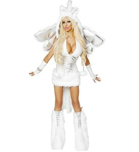 Sexy Pegasus Costume, White Pegasus Costume, Adult Pegasus Costume, Pegasus Halloween Costume, Pegasus Wings Costume, #N4610