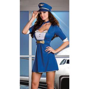 Sexy Pilot Costume, First Class Flirt Costume, Sexy Adult Pilot Costume, Adult Pilot Halloween Costume, #C1306
