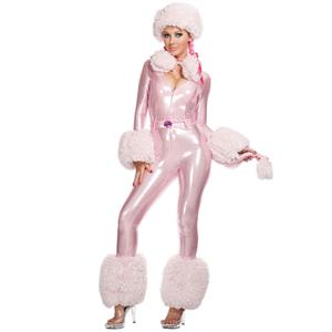 Sexy Pink Poodle Costume, Sexy Poodle Costume, Poodle Halloween Costume, Deluxe Poodle Costume,  #N4690