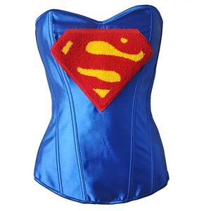 Halloween Costume Corset, Burlesque Corset for Women, Sexy Superhero Costume Cosplay, Superwoman Cosplay Corsets, #N14639