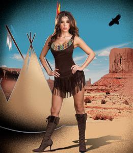Sexy Pocahontas Costume, Adult Pocahontas Halloween Costume, Pocahottie Costume, #N4280