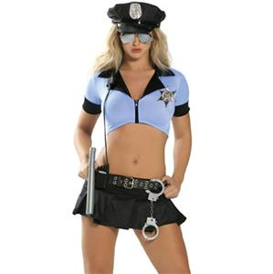 Sexy Policewoman Costume, Sexy Cop Costumes, Police Costume, Police Halloween Costume, #N11898