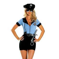 Sexy Policewoman Uniform Adult Cop Cosplay Costume Set N18429