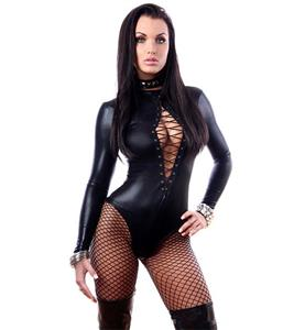 Gothic Black Catsuit Lingerie, Women