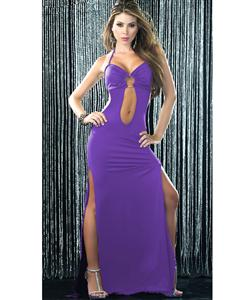 Keyhole Front Gown, Sexy Purple Gown, Purple Gown, #N5371