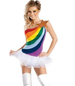 Sexy Rainbow Costume, Rainbow Girl Costume, Rainbow Halloween Costume, #N4439