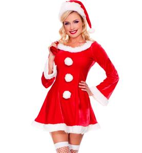 Long Sleeves Sleigh Hottie Christmas Costume XT9646