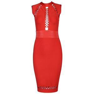 Sexy Dress for Women, Fashion Mini Dresses, Bodycon Party Dress, Bodycon Bandage Dress, Sleeveless Bodycon Dresses, Red Bodycon Bandage Dress, Lace Up Dress, #N15692