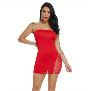 Strapless Red Bodycon Dress, Clubwear Sleeveless Bodycon Dresses, Fashion Red Mini Dress, Cheap Lingerie Mini Dress, Sexy Red Mini Dress, Strapless Red Bodycon Dress, Sexy Tube Dress, #N18469