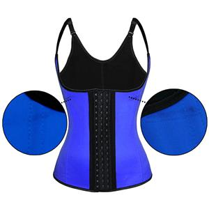 Sexy Royalblue Latex Steel Bone Vest Underbust Corset with Little Defect N18664