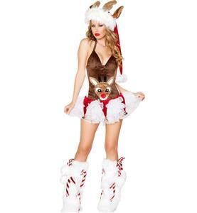 Sexy Rudolph Reindeer Halter Costume XT9831