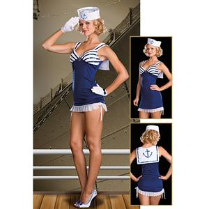 Sexy Sailor Costume, Sexy Mermaid Costumes, Sailor Costumes Women, #M3047