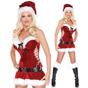 Jingle My Bells, Sexy Christmas, Sexy Christmas costume wholesale, Sexy Suspender Santa Lingerie Costume, #XT2128