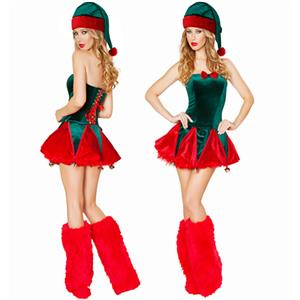 Sexy Christmas Costume, Red Velet Christmas Costume, Christmas Costume for Women, Cute Christmas Skirt, Miss Santa