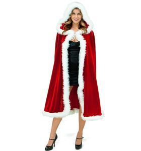 Sexy Santa Robe, Santa floor length jacket, Christmas Robe, #XT6243