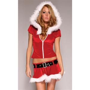 Sexy Santa Set XT2213  sc 1 st  MallTop1.com & HOODED SEXY SANTA COSTUME - MallTop1.com