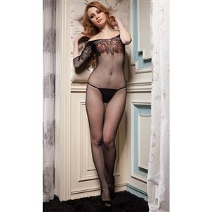 Sexy Body Stocking, Fishnet Body Stocking, Cheap Black See-through Body Stocking, #BS9903