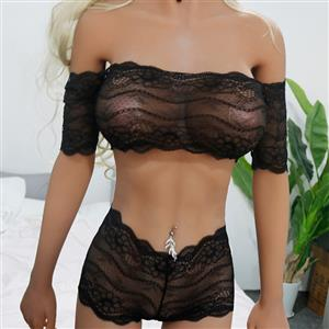 Flirty Bodysuit, Sexy Clubwear Stripper Striptease Bodysuit for Women, Sexy See-through Floral Lace Lingerie, Cheap Romper Lingerie for Women, Sexy Valentines Lingerie, Sexy Stretchy Lingerie, Sexy Sheer Lace Bra and Panty Suit, #N19304