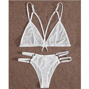 Fashion Mesh Bra Set, 2 Piece Strappy Lingerie Sets, Thin Mesh Bra Set Chemise,Sheer Mesh Bra and Panty Underwear Set, Sexy Sheer Mesh Bra and Panty Set,Back-clasp Bikini Set, #N20695