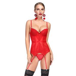 Flirty Bustier Corset, Sexy Floral Lace Bustier Corset, Fashion Stretchy Body Shaper Corset, Spaghetti Strap Low-cut Bustier Corset, Women