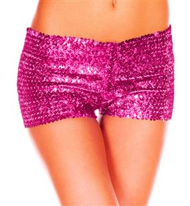 Rose Sequin Short, Sequin Booty Shorts, Sequin Go Go Shorts, Glittering Sparking Sequin Shorts, #N8198