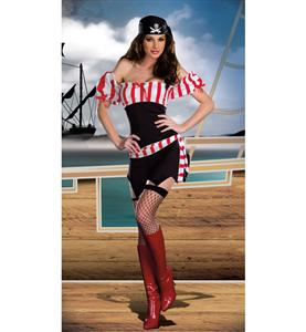 Fever Pirate Costume, Sexy Ships Ahoy costume, Ships Ahoy costume, #P4630