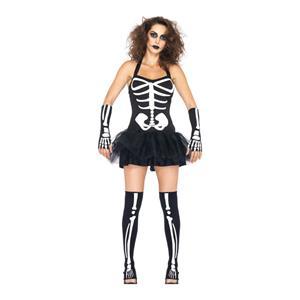 Sexy Skeleton Costume, Glow in the Dark Skeleton Costume, Light Up Skeleton Costume, Glow in the dark Costume, #N5439