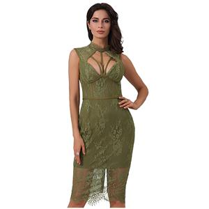 Sleeveless Bodycon Dress, Strappy Dress, Lace Dress for Women, Backless Bodycon Dress, Slit Dress for Women, Back Zipper Dress, Sexy Party Dress for Women, #N15239