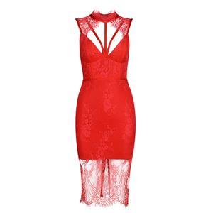 Sleeveless Bodycon Dress, Strappy Dress, Lace Dress for Women, Backless Bodycon Dress, Slit Dress for Women, Back Zipper Dress, Sexy Party Dress for Women, #N15240