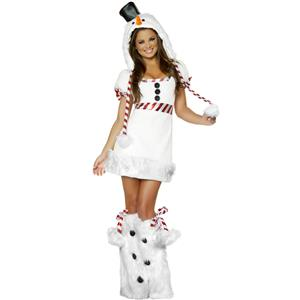 Sexy Snowman Costume, Snow Man Costume, Snowman Outfit, Christmas Costume, #XT6356